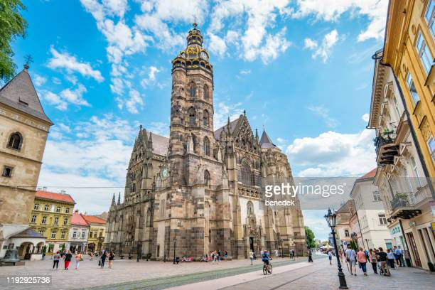 st elisabeth cathedral in kosice slovakia - kosice stock pictures, royalty-free photos & images