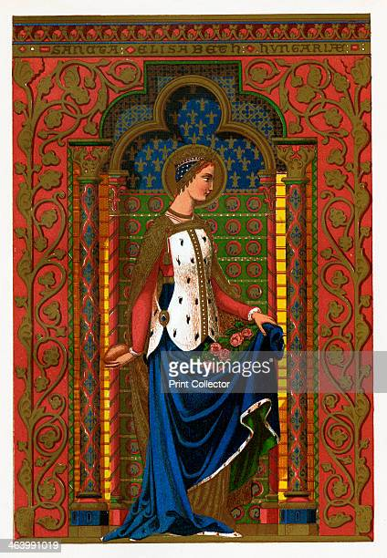 St Elizabeth of Hungary, 1886. Elizabeth was the daughter of Andras II of Hungary. After the death in 1227 of her husband Louis IV, Landgrave of...