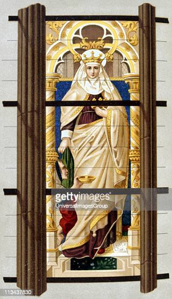 St Elizabeth of Hungary Daughter of Andras II of Hungary, wife of Louis, Landgrave of Thuringia, Germany. Noted for piety and ascetcism. 19th century...