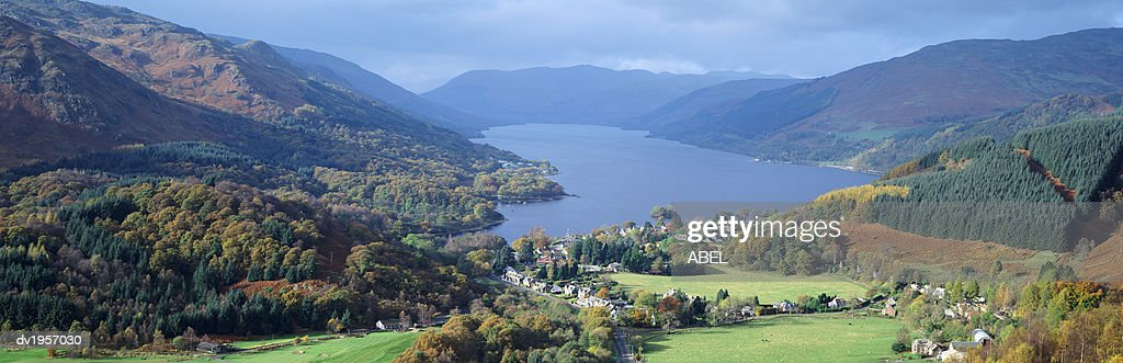 St. Fillans and Loch Eran, Perthshire, Scotland, UK : Stock Photo