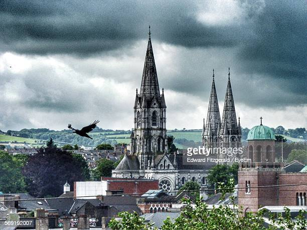 St Fin Barres Cathedral against cloudy sky in city