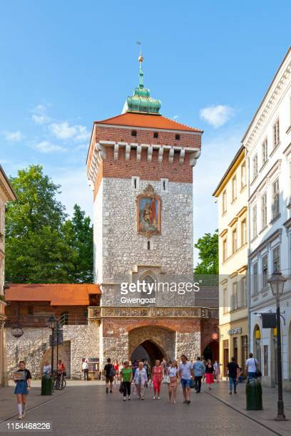st. florian's gate in krakow - gwengoat stock pictures, royalty-free photos & images