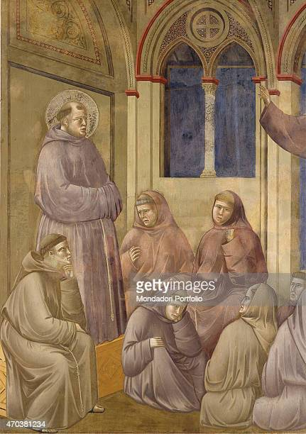'St Francis appearing in the chapter of Arles by Giotto 12971300 13th14th century fresco 230 x 270 cm Italy Umbria Assisi Upper Basilica of San...