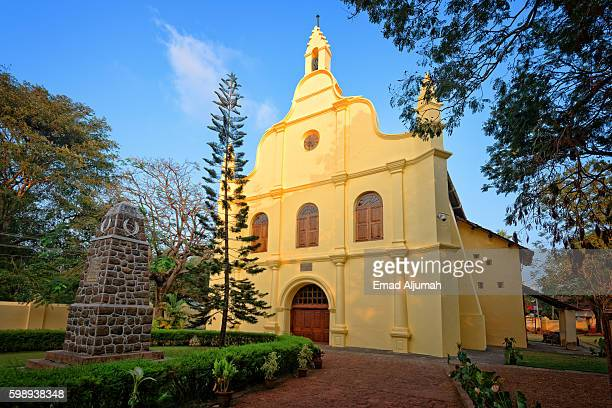 st. francis church in kochi, kerala, india - kochi india stock pictures, royalty-free photos & images