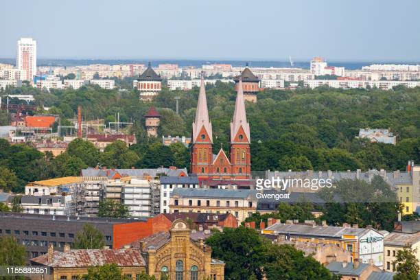 st. francis' church in riga - gwengoat stock pictures, royalty-free photos & images