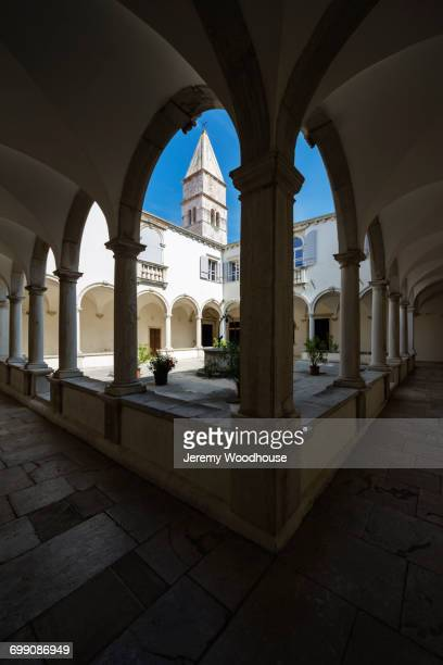 st. francis of assisi church, piran, slovenia - st. francis of assisi stock photos and pictures