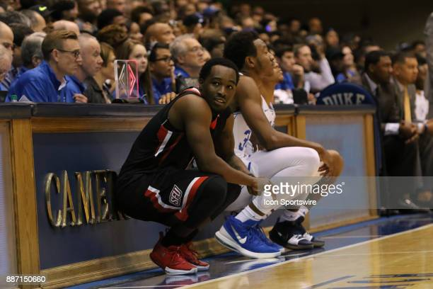 St Francis Red Flash guard Malik Harmon during the 1st half of the Duke Blue Devils game versus the StFrancis on December 05 at Cameron Indoor...