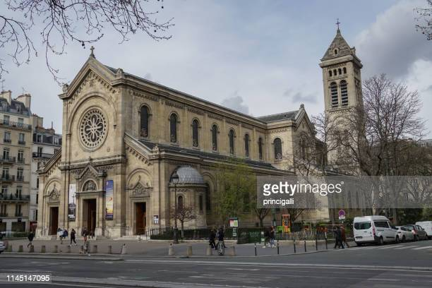 st francis xavier's church, paris - st. francis xavier stock pictures, royalty-free photos & images