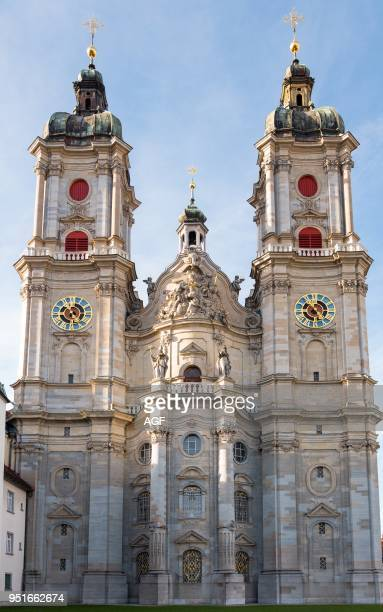 St gallen Switzerland The Baroque Style Facade of the Cathedral