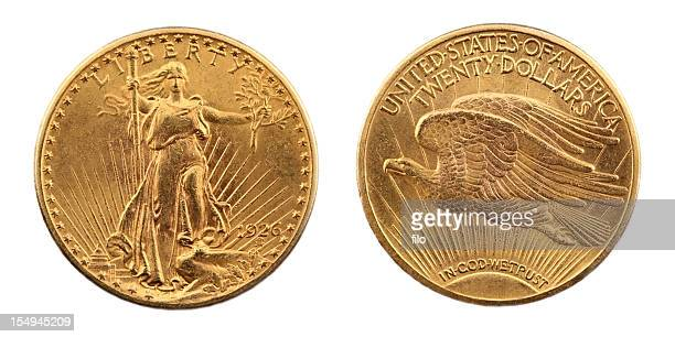 St. Gaudens Eagle moneda de oro de doble