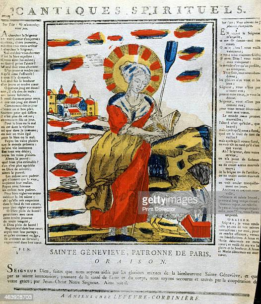 St Genevieve of Nanterre French nun and prophetess 19th century St Genevieve the patron saint of Paris and guardian against disaster fever and plague