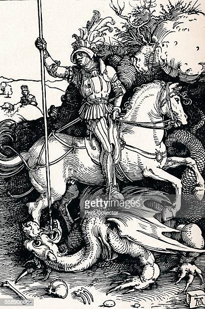 'St George and the Dragon' 1505 From Durer Des Meisters Gemalde Kupferstiche und Holzschnitte in 471 Abbildungen [Stuttgart und Leipzig Deutsch...