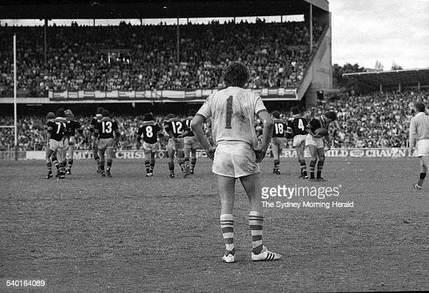 St George captain and fullback Graeme Langlands stands a forlorn figure after Easts scored another try in the rugby league grand final at the Sydney...