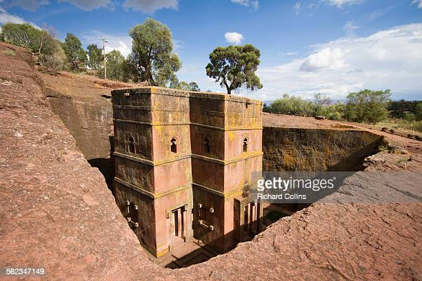 st george church, lalibela - lalibela stock photos and pictures
