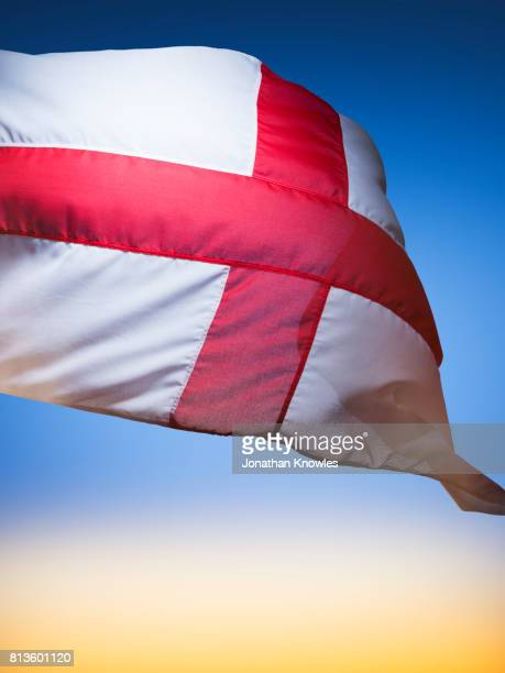 st. george flag - england flag stock photos and pictures