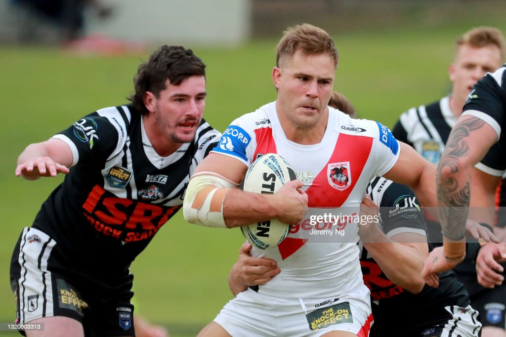 Jack De Belin Returns to Rugby League In NSWRL Rd 12 - Magpies v Dragons : News Photo