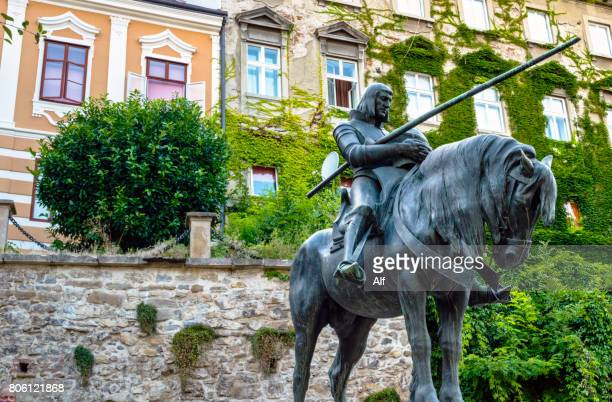 st. george kills a dragon satue in zagreb, croatia - zagreb stock pictures, royalty-free photos & images