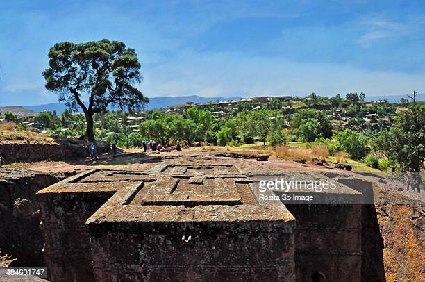 st. george lalibela - lalibela stock photos and pictures