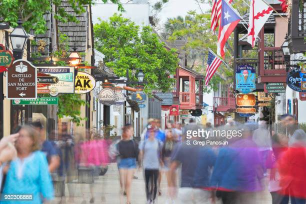 st. george street - st. augustine - florida - st. augustine florida stock photos and pictures
