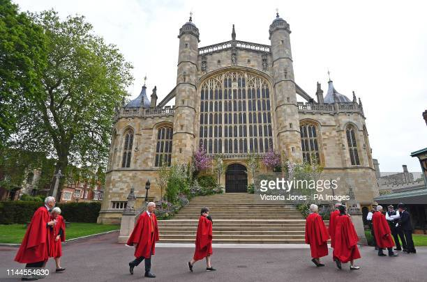 St George's Chapel in Windsor Castle ahead of the wedding of Lady Gabriella Windsor and Thomas Kingston.