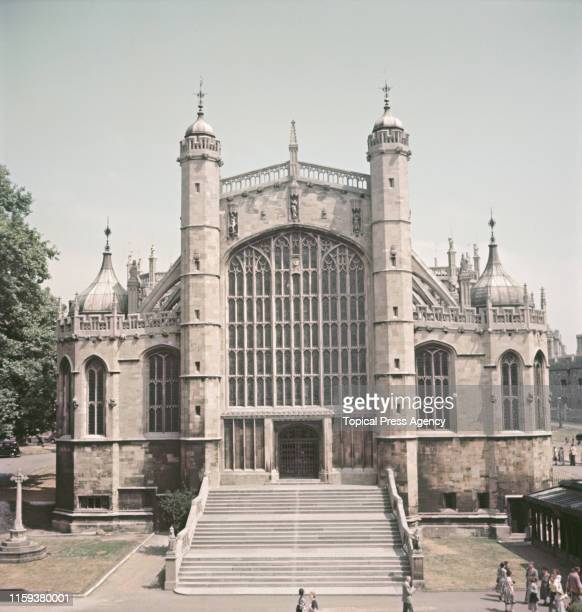 St George's Chapel in Windsor Castle, England, circa 1955.