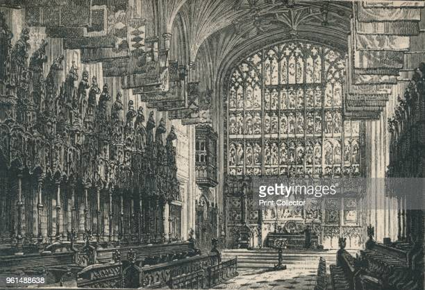The Choir, Looking East', 1895. From The Governor's Guide to Windsor Castle, by the Most Noble The Marquis of Lorne, K.T. [Cassell and Company,...
