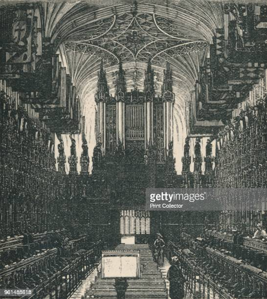 The Choir, Looking West', 1895. From The Governor's Guide to Windsor Castle, by the Most Noble The Marquis of Lorne, K.T. [Cassell and Company,...