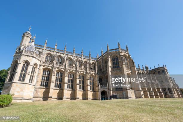 st george's chapel, windsor castle, uk - st. george's chapel stock photos and pictures