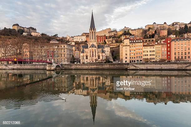 St Georges church and Fourviere cathedral Lyon