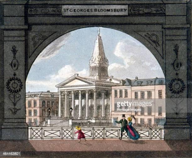 St George's Church Bloomsbury Holborn London c1800