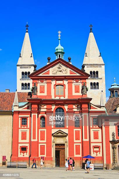 st. george's convent, prague, czech republic - convent stock photos and pictures
