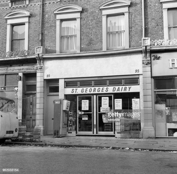St Georges Dairy in Regents Park Road London NW1 where Michael Munnelly 23 a Sunday People Journalist was murdered by an 18 year old butcher's cutter...