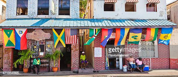 st. george's, grenada w.i. - st george flag stock photos and pictures