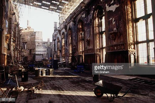 St. George's Hall In Windsor Castle, After Some Clearance Following The Fire Which Occurred On 20 November 1992