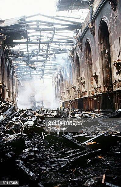 St. George's Hall In Windsor Castle After The Fire Which Started On 20 November 1992