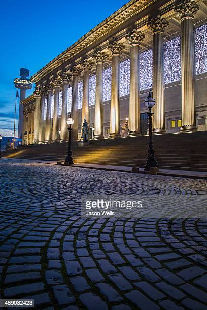 St Georges Hall, Liverpool, in the blue hour