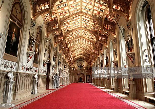 St George's Hall Windsor Castle After Complete Restoration Following The Fire