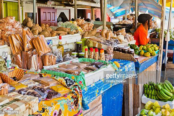 st. george's market, grenada w.i. - caribbean culture stock pictures, royalty-free photos & images