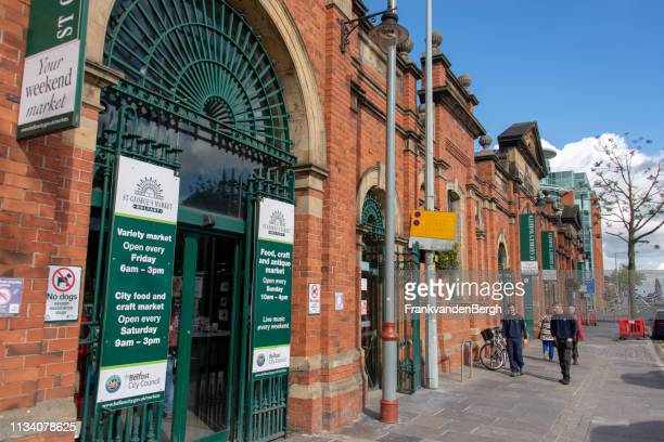st george's market - belfast stock pictures, royalty-free photos & images