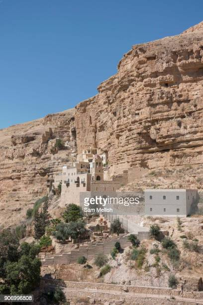 St George's Orthodox Monastery located in Wadi Qelt in the Eastern West Bank on 3rd April 2016 near Jericho West Bank The sixthcentury cliff hugging...