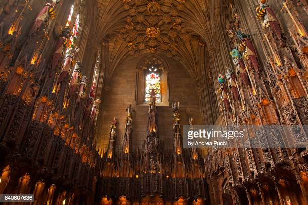 st giles' cathedral, thistle chapel , edinburgh, scotland, united kingdom - st. giles cathedral stock pictures, royalty-free photos & images