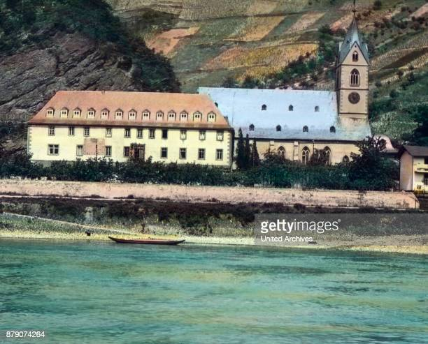 St Goarshausen city castle Katz the mouse is adjacent Across the street is St Goar with the mighty Rhine Rock the largest fortress ruin on the Rhine...