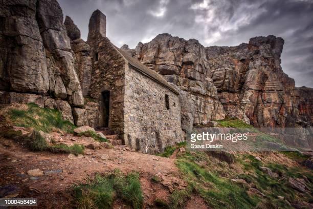 st govan's chapel - govan stock pictures, royalty-free photos & images