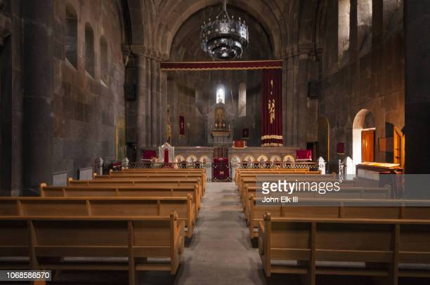 st. gregor church at kecharis monastery - nave stock pictures, royalty-free photos & images