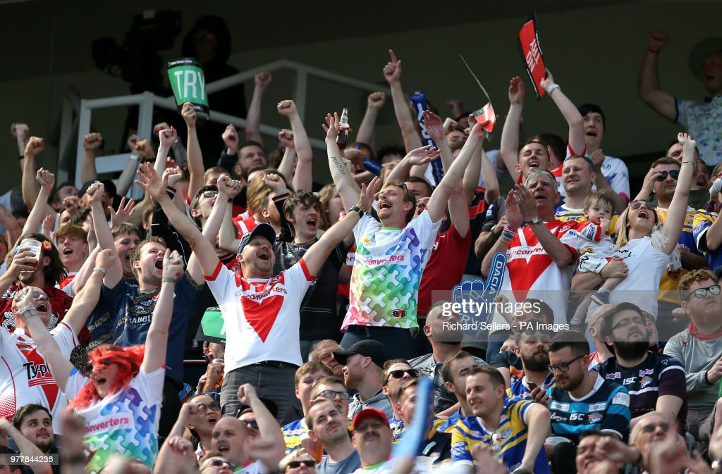 Widnes Vikings v St Helens - Betfred Super League - Magic Weekend - St James' Park : News Photo