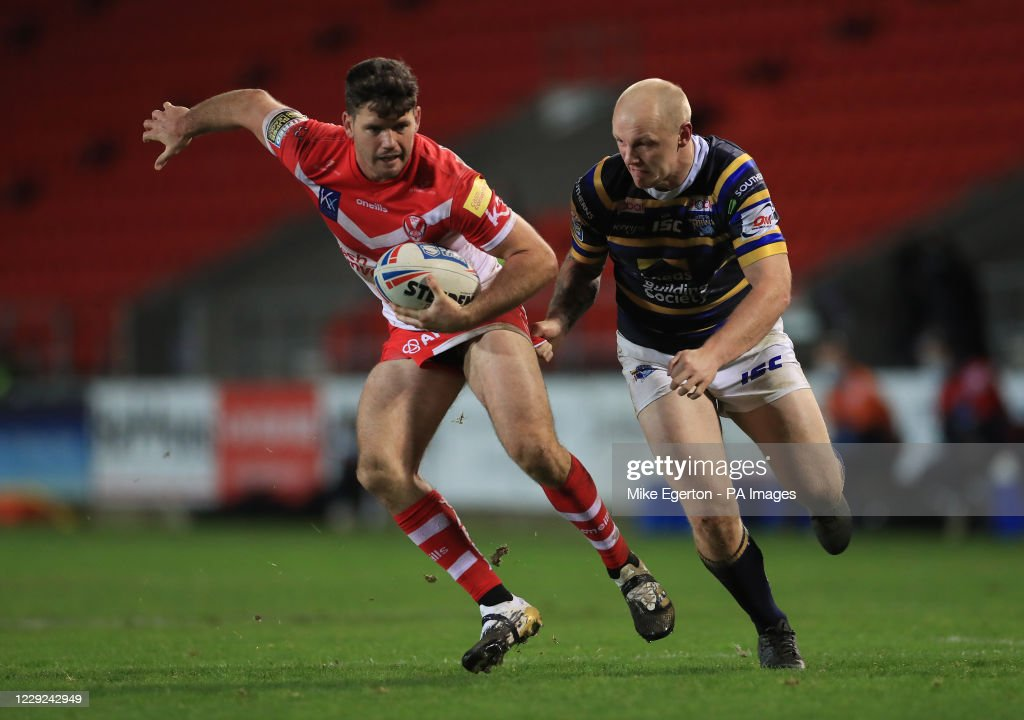 St Helens v Leeds Rhinos - Betfred Super League - Totally Wicked Stadium : News Photo