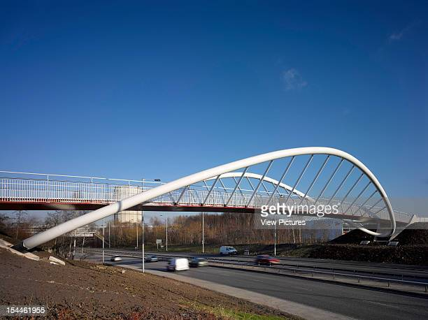 St Helens Pedestrian Bridge Lancashire Moxon Architects 2012Overall Side View From Below Moxon Architects United Kingdom Architect