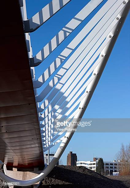 St Helens Pedestrian Bridge Lancashire Moxon Architects 2012View From Underneath Moxon Architects United Kingdom Architect