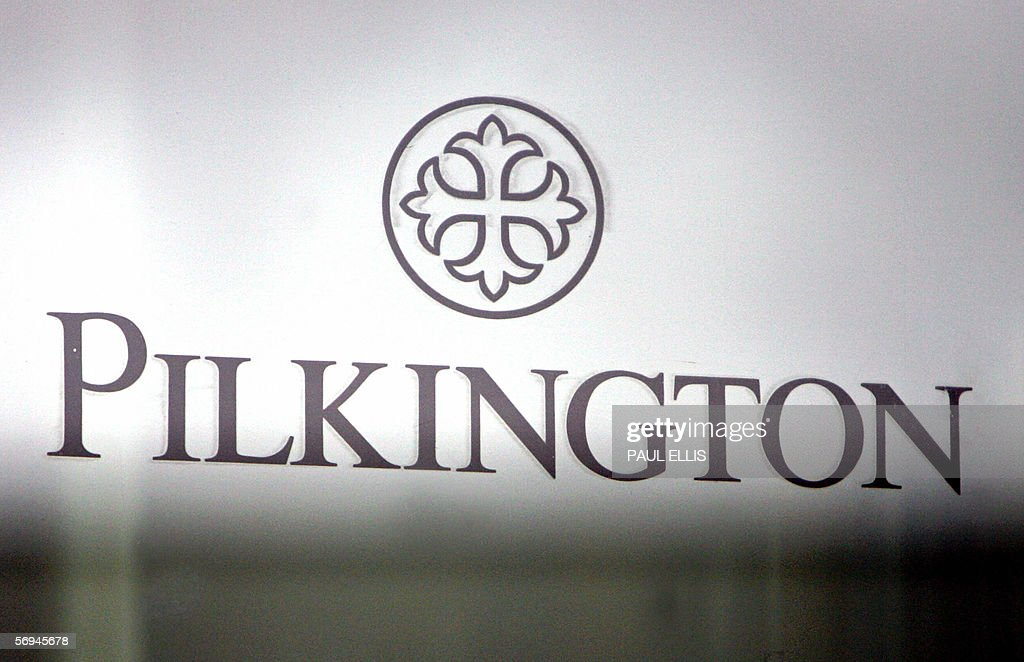 A Pilkington glass factory logo is refle & A Pilkington glass factory logo is refle Pictures | Getty Images