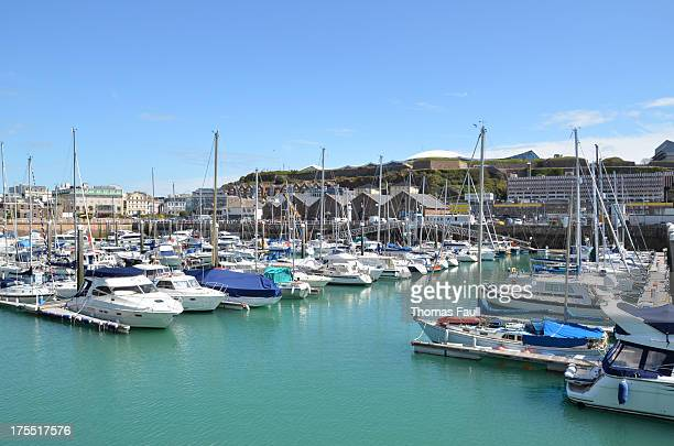 st helier marina - marina stock pictures, royalty-free photos & images
